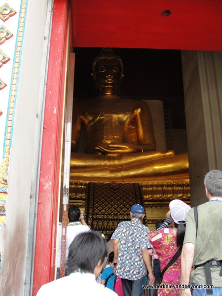 Golden Buddha at Wat Phra Sri Sanphet at Ayutthaya Historical Park in Thailand