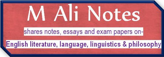 M Ali Notes