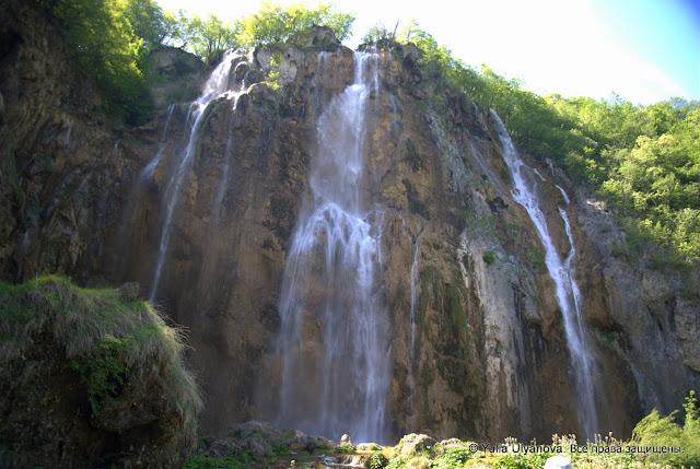 Большой водопад на Плитвицких озерах, Хорватия