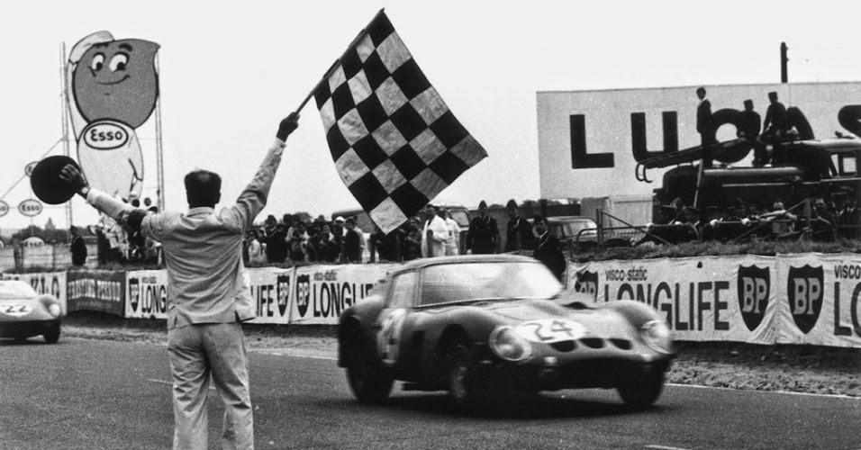 Ferrari 250 GTO vence o GP da França em 1963, em Le Mans.