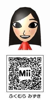 譜久村聖(モーニング娘。)のMii QRコード トモダチコレクション新生活