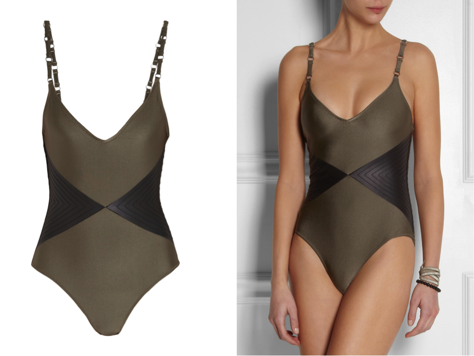 VipandSmart Leather swimsuit