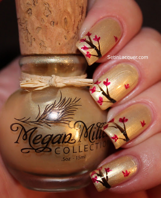Falling Leaves nail art using Megan Miller nail polish