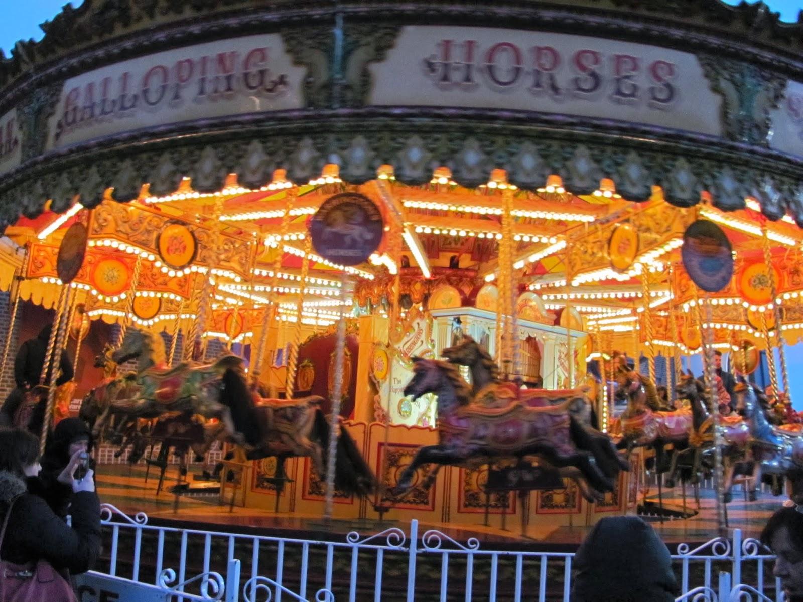 Christmas Market Carousel in Dublin