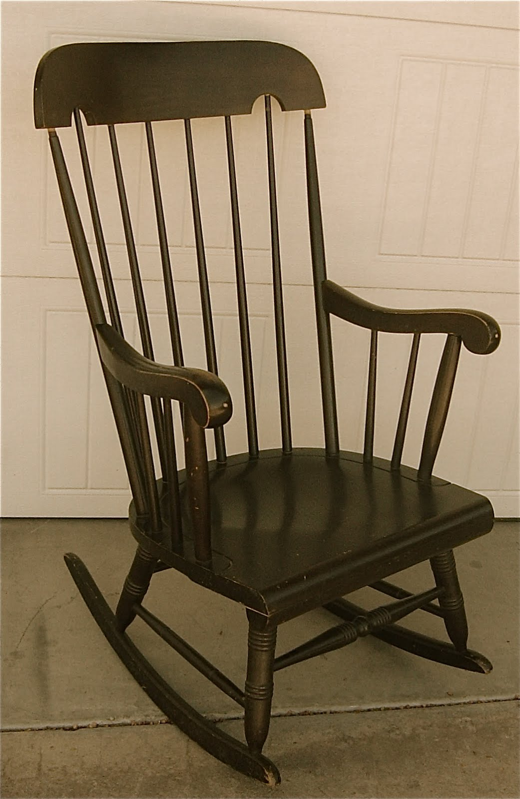 The backyard boutique by five to nine furnishings dark Wood rocking chair