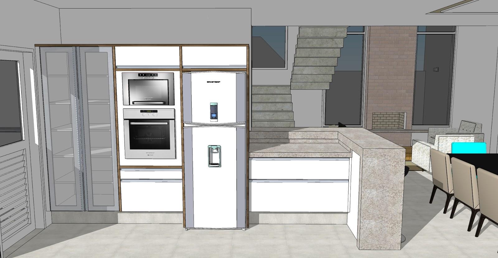 no Swiss Park: Alterações no Projeto de Interiores Cozinha #614E38 1600 830