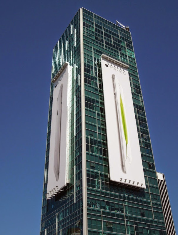 Giant Apple iPhone 6 billboards