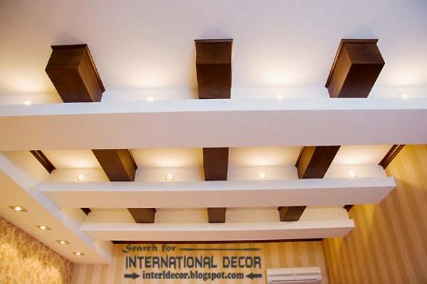 Japanese false ceiling design for small living room