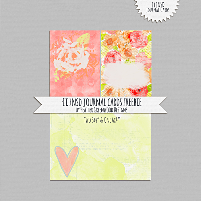 Heather Greenwood | iNSD journal cards freebie | printables