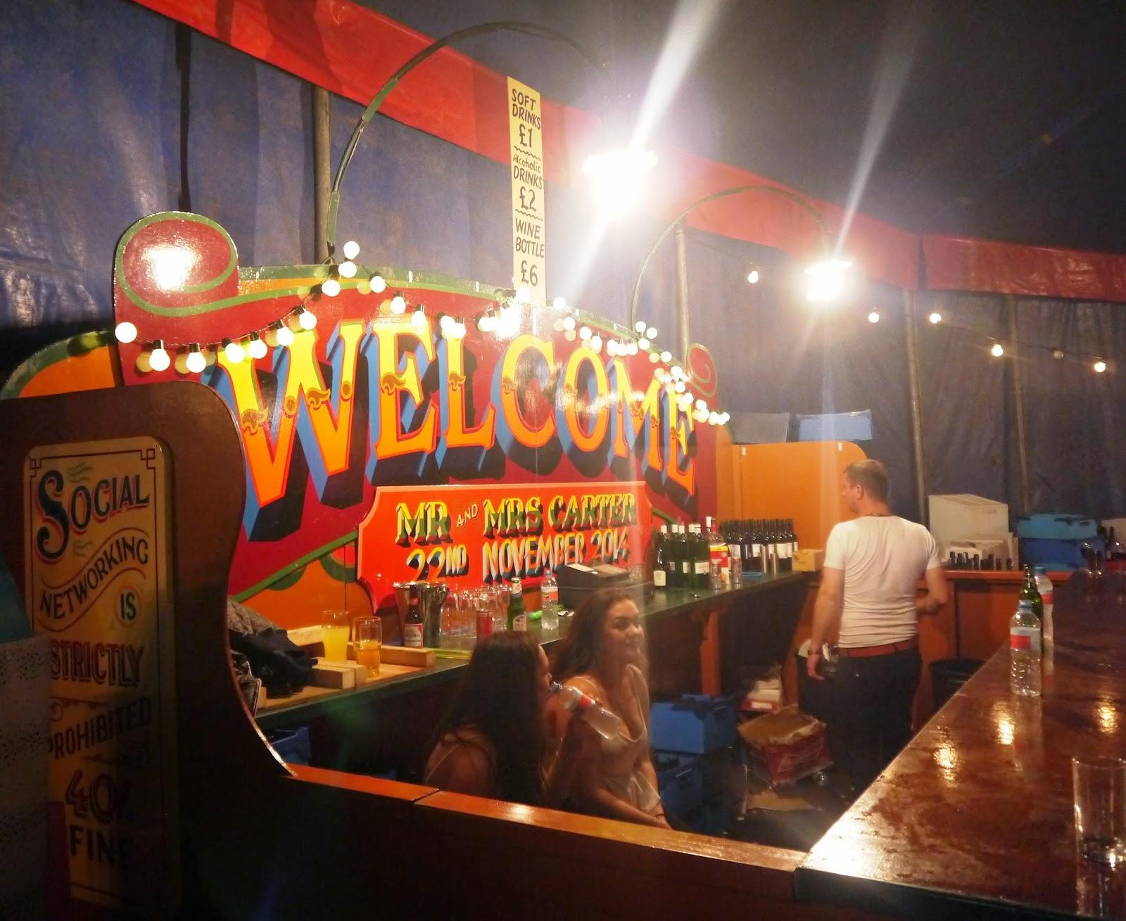 Carters Steam Fair Wedding - Bar