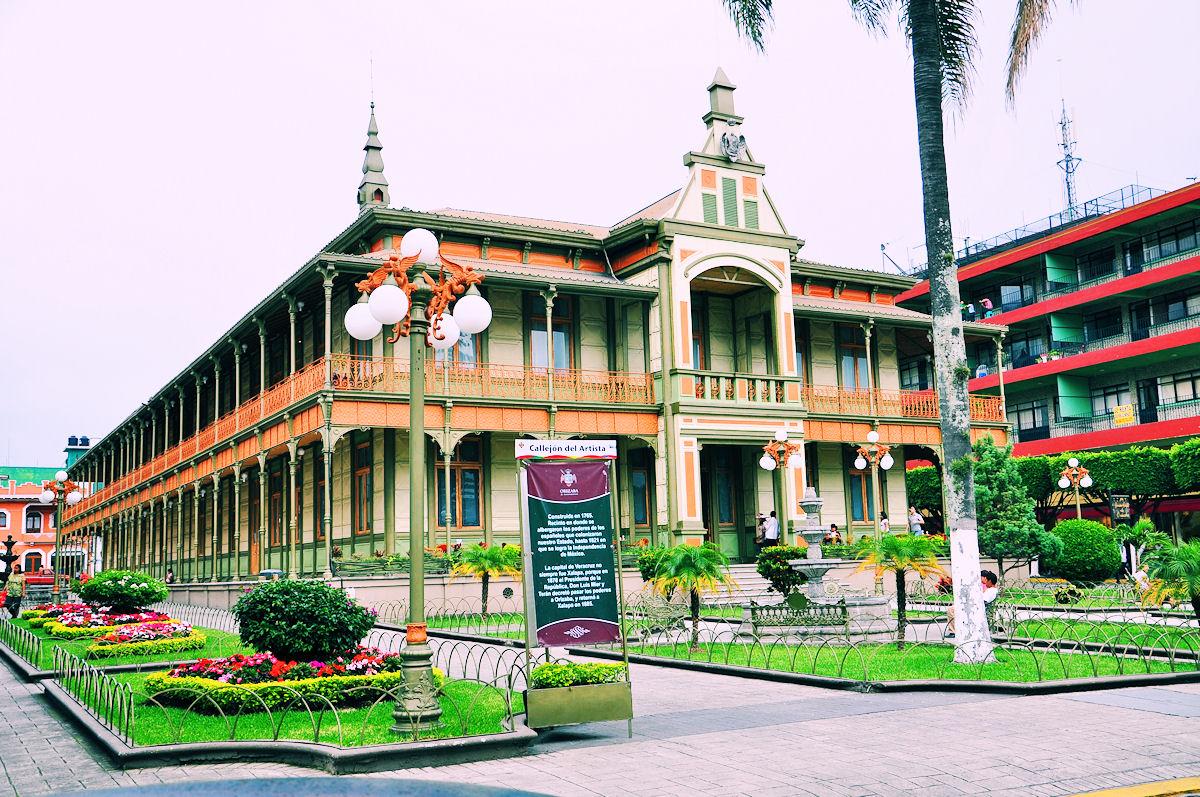 vista del exterior del Palacio de Hierro de Orizaba