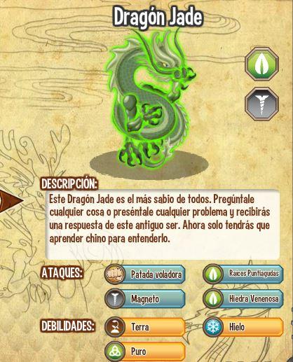 Dragon Jade caracteristicas