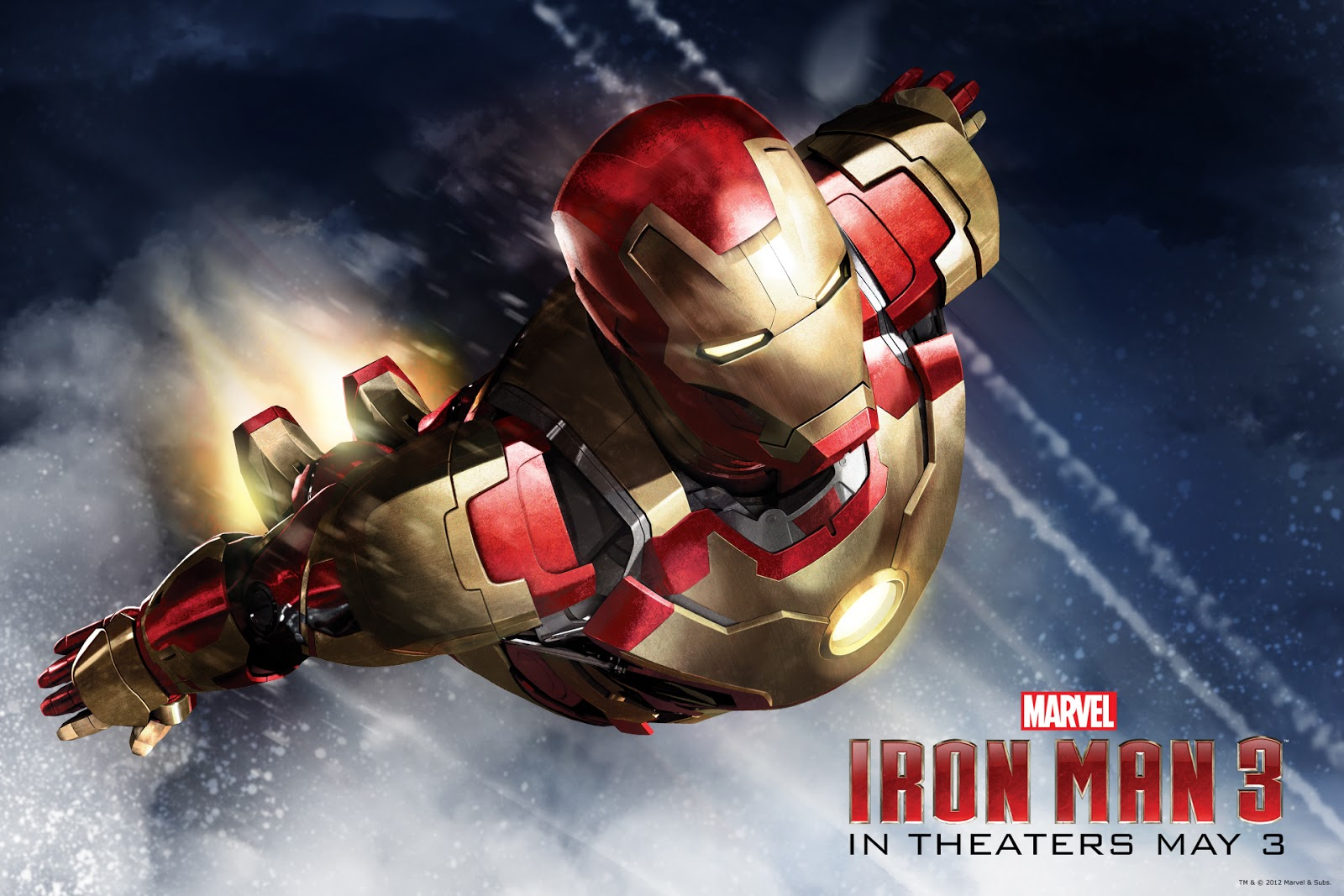 a constantly racing mind: iron man 3 desktop accessories - wall paper