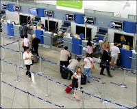 airport interior - check in counter