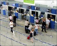 airport interior - check in counter