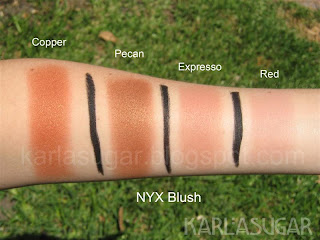 swatches blushes nyx