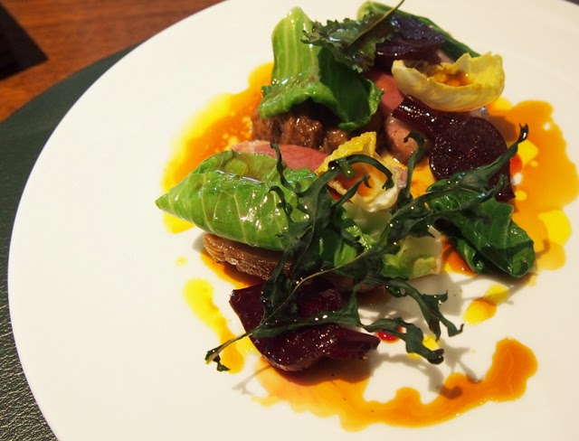 Cornish Lamb, collard greens, beetroot, white onion and hyssop