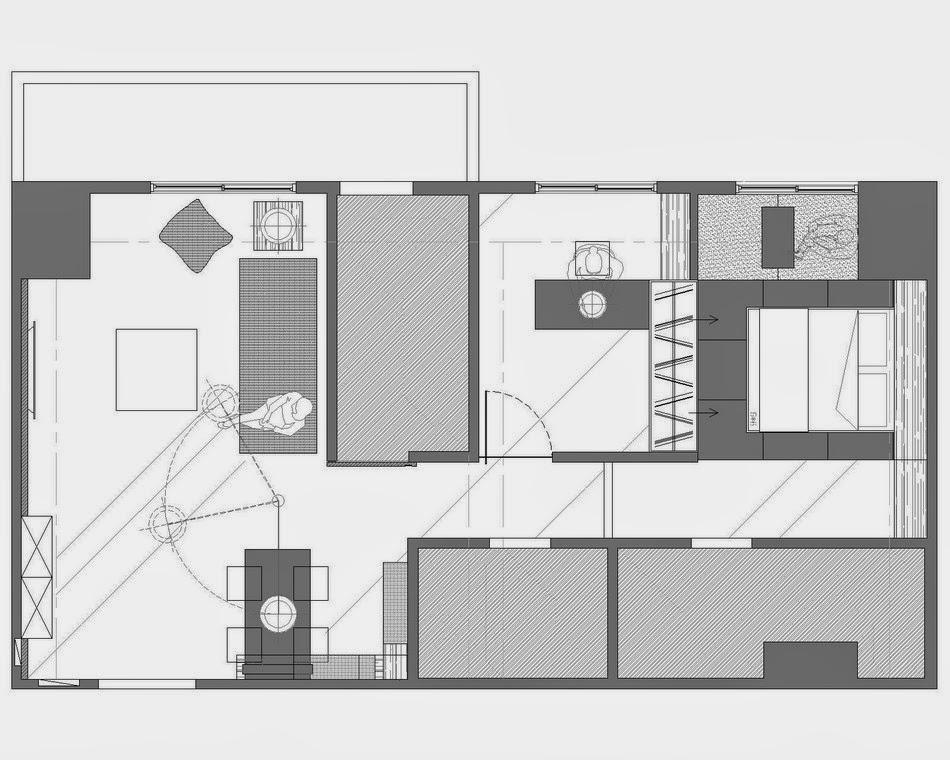 amenajari, interioare, decoratiuni, decor, design interior, minimalist, apartament, plan amenajare apartament minimalist