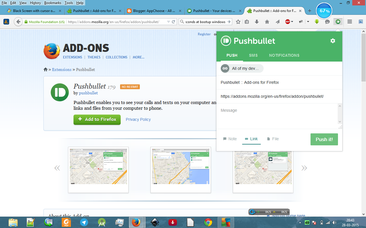 Pushbullet provides you the facility of syncing and accessing all your ...