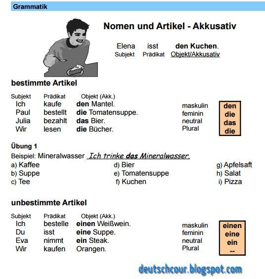 Nomen und Artikel - Akkusativ ~ Deutsch lernen