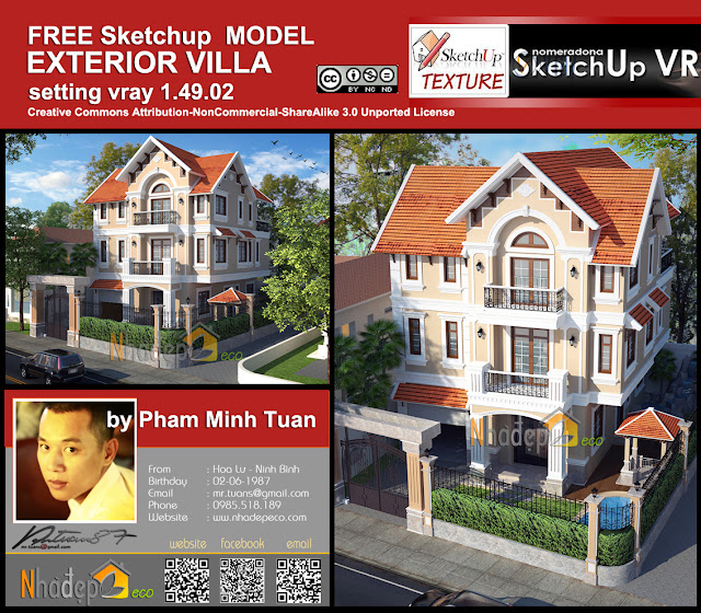 sketchup_model_vray_setting_villa_exterior_cover