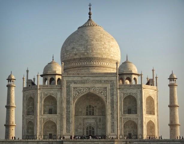 taj mahal zoom batiment marbre blanc mausolee palais couronne mumtaz shah jahan moghol inde agra