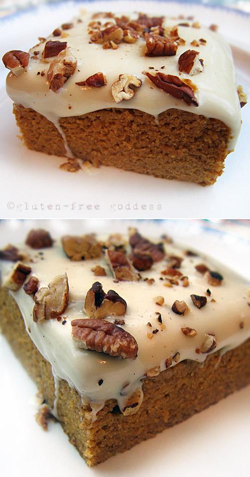 Karina's amazing frosted pumpkin cake. #glutenfree