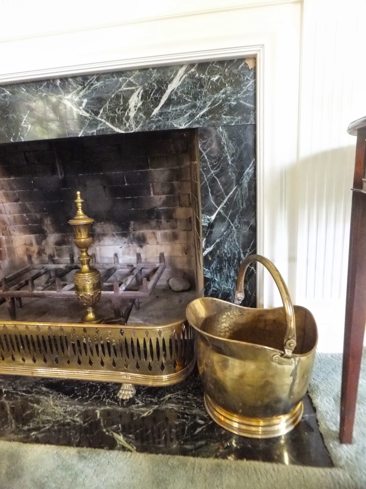 ash tree cottage antique andirons and fender for the fireplace