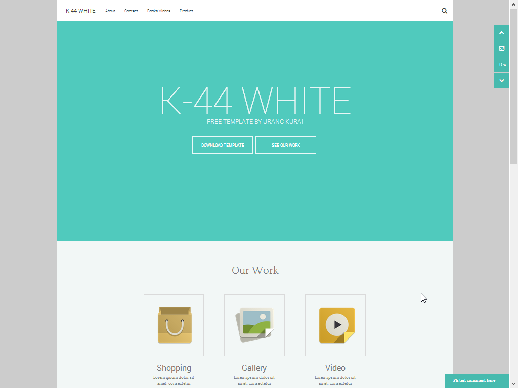 Features of K44 Blogger Template