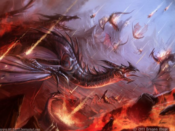 Michael Gauss helmuttt deviantart ilustrações arte conceitual fantasia capas de livros Armageddon dos dragões