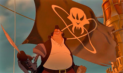 Treasure Planet review Disney Netflix John Silver Pirate Flag