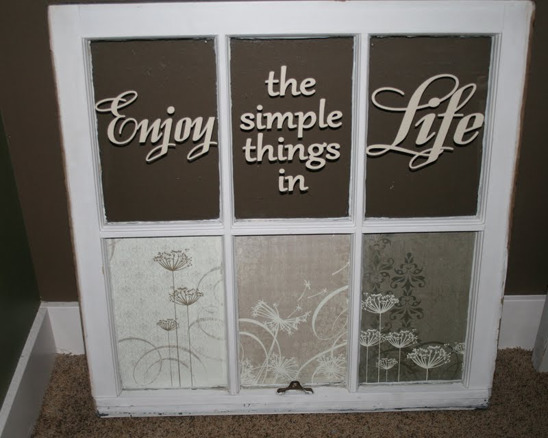 Redefining c enjoy the simple things in life old window for Old window craft ideas