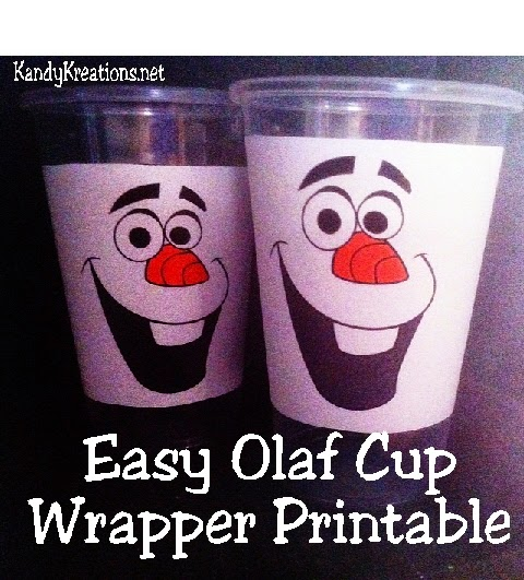 Easy Olaf Cup Wrapper Printable