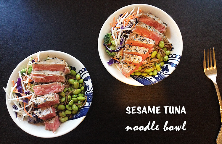 Sesame Tuna Noodle Bowl | Hard Parade