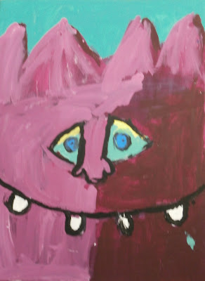 Jim Henson monster critter inspired acrylic painting art project for kids