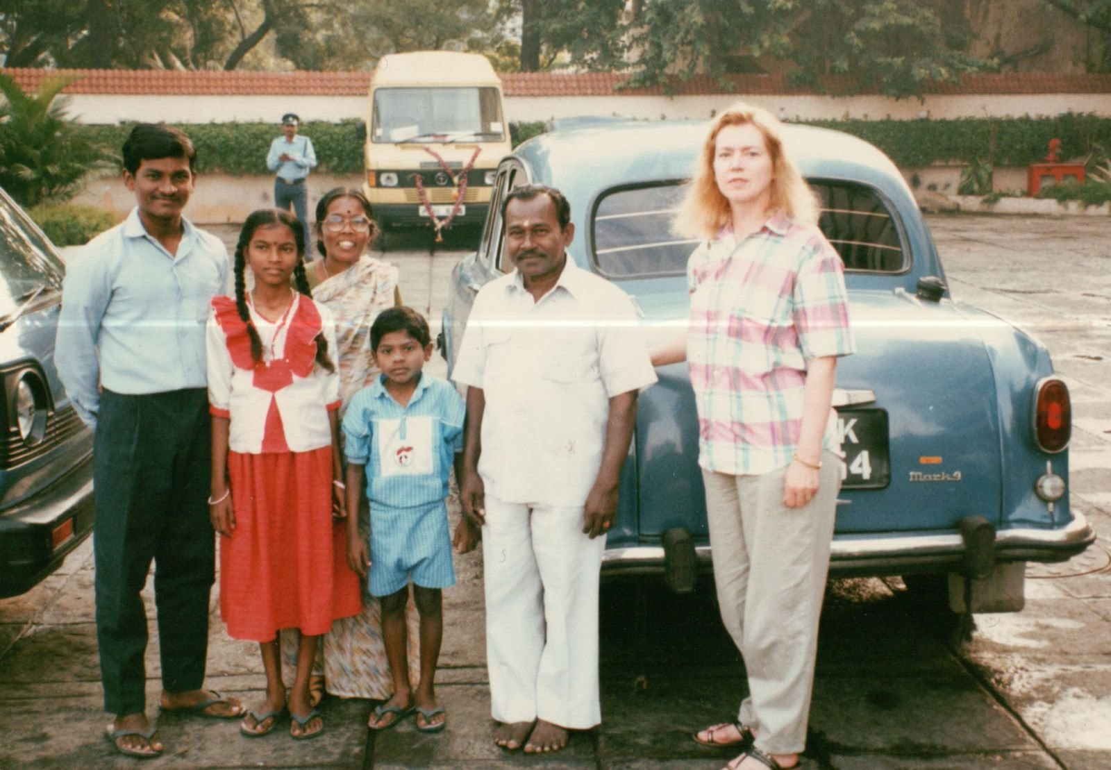 Narayan and his family. He made sure his taxi was at our disposal whenever we visited Madras.