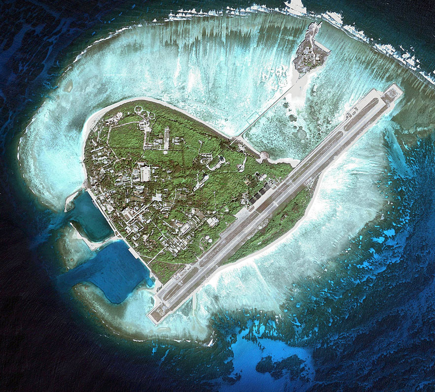 The airstrip and naval facilities on Yongxing Island