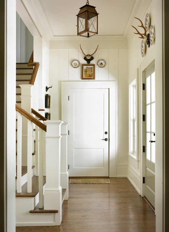 Foyer Ceiling Joints : New home interior design southern traditional