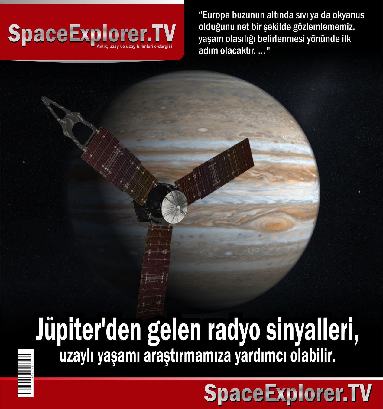Jüpiter, Jüpiter'in uyduları, Uzaydan toplanan sinyaller, Uzaydan toplanan radyo sinyalleri, Europa, Dünya dışı yaşam, Ganymeda, Callisto, Galileo uzay aracı, Andrew Romeo Wolf, Özge Eryağcı,