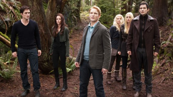 The Twilight Saga: Breaking Dawn: Part 2 vampires dressed like normal people in the woods movieloversreviews.blogspot.com