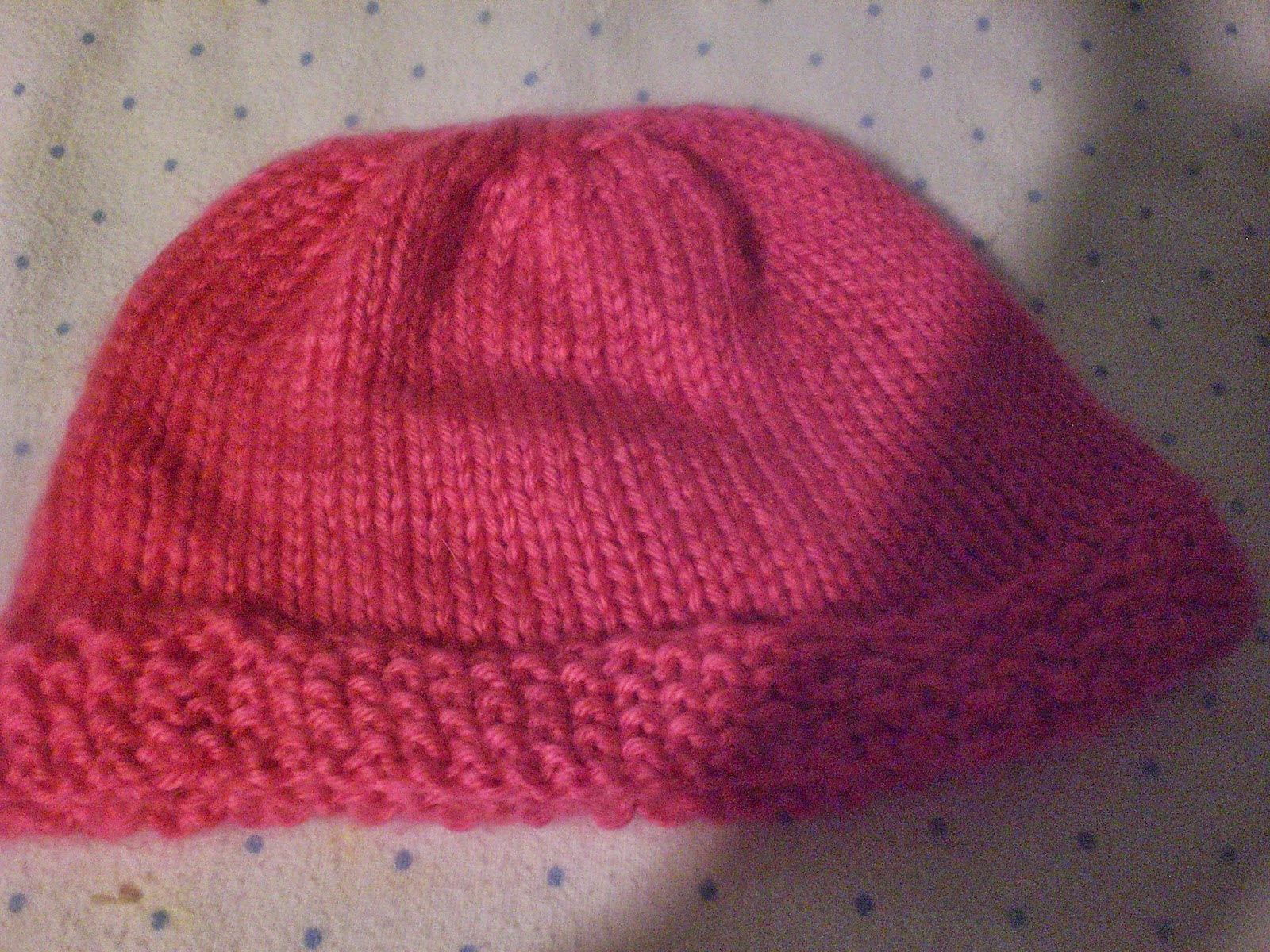 Knit Stitch Baby Hat : Luvsknitting: Seed Stitch Baby Hat in Hot Pink