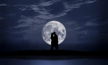 True Story of Leaving - man woman romantic moon light love kiss kissing