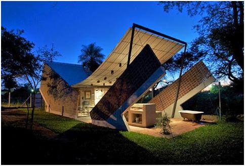 The Hammock House facade, contemporary design