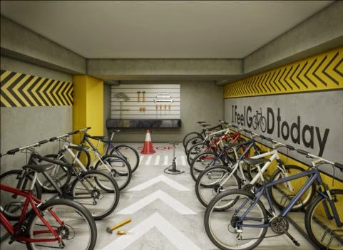 apartamento república com bicicletário