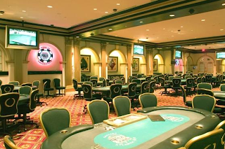 The poker room at Caesars Atlantic City