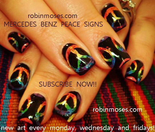Robin moses nail art butterfly skulls purple and pink skulls mercedes benz peace sign nail art design hippy swag clique here prinsesfo Gallery