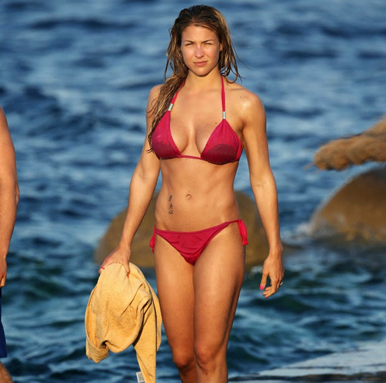Gemma Atkinson revealed her impressive figure during a trip to Dominican Republic on Saturday, March 15, 2014.