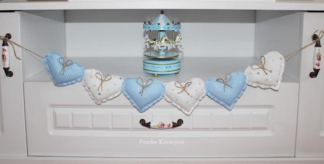 kalp kumaş banner nasıl yapılır? kalp kalıbı, vintage ev, diy projesi, Fabric heart bann pattern, atlı karınca
