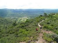 Vistes sobre el Baix Berguedà des del cim del Serrat de la Cua de la Guilla