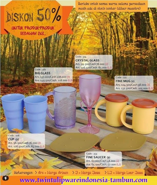 Promo Diskon 50% Tulipware | September - Oktober 2014